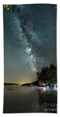 Labor Day Milky Way In Vacationland Beach Towel by Patrick Fennell