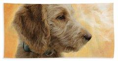 Labradoodle Puppy Beach Sheet