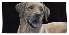 Labrador Portrait Beach Sheet