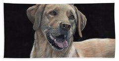 Labrador Portrait Beach Towel