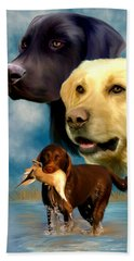 Labrador Retrievers Beach Towel