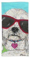 Laci With Shades Beach Towel