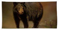 Black Bear In The Fall Beach Sheet