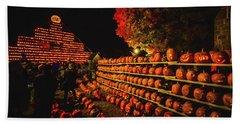 Laconia Pumpkin Festival Graphic Design 3 Beach Sheet