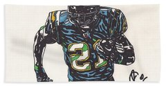 Ladainian Tomlinson 1 Beach Sheet by Jeremiah Colley