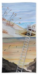 Ladderway Beach Towel by Edwin Alverio