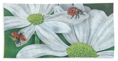 Lady Bugs Beach Towel by Troy Levesque