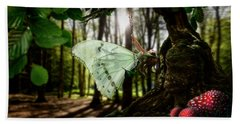 Lady Butterfly Beach Towel
