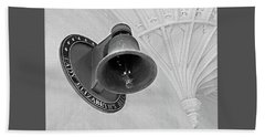 Beach Sheet featuring the photograph Lady Elizabeth's Bell Clare College Cambridge by Gill Billington
