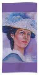 Lady In Blue Beach Sheet