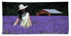 Lady In Lavender Beach Towel