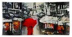 Lady In Paris Beach Towel