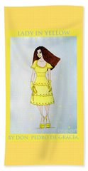 Beach Towel featuring the painting Lady In Yellow by Don Pedro De Gracia