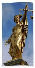 Beach Towel featuring the photograph Lady Justice In Bruges by RicardMN Photography