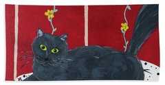 Lady Kitty Beach Towel