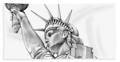 Lady Liberty Beach Sheet by Greg Joens