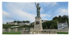 Lady Liberty On Mackinac Island Beach Sheet