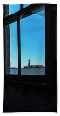 Lady Liberty Beach Towel by Tom Singleton