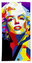 Lady Monroe Beach Towel