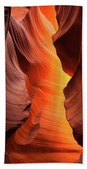 Beach Towel featuring the photograph Lady Of The Flame by Darren White