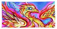 Lady Phoenix  Beach Towel