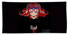 Lady Red Beach Towel