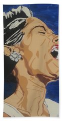 Lady Sings The Blues Beach Towel