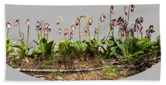 Beach Towel featuring the digital art Lady Slippers by Daniel Hebard