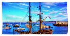 Lady Washington In Monterey Bay Beach Towel