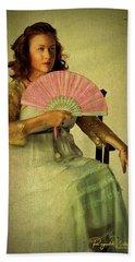 Lady With A Fan Beach Sheet