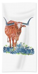 Ladybug In The Bluebonnets Lh002 By Kmcelwaine Beach Sheet