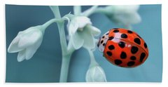 Ladybug Beach Sheet by Mark Fuller