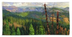 Beach Towel featuring the painting Ladycamp by Steve Henderson