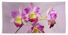 Laeliocatonia Hybrid Orchids V2 Beach Towel