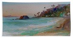 Beach Towel featuring the painting Laguna Beach Plein Air by Sandra Strohschein
