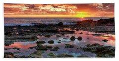 Laguna Beach Tidepools At Sunset Beach Towel by Eddie Yerkish