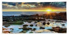 Laguna Beach Tidepools Beach Towel by Eddie Yerkish