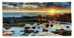 Laguna Beach Tidepools Beach Sheet by Eddie Yerkish