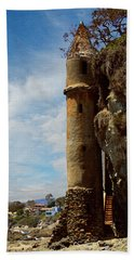 Beach Towel featuring the photograph Laguna Beach Tower by Glenn McCarthy Art and Photography