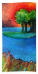 Laguna Blu Beach Towel by Elizabeth Fontaine-Barr
