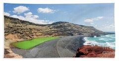 Laguna Verde Beach Sheet by Delphimages Photo Creations