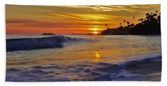 Laguna's Last Light Beach Towel