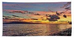 Lahaina Sunset Panorama Beach Towel