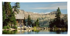 Lake Agnes Tea House Beach Towel