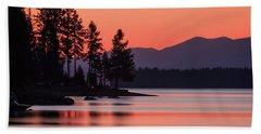 Lake Almanor Twilight Beach Towel