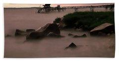 Lake Balaton Painting Beach Towel by Odon Czintos