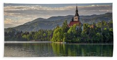 Beach Sheet featuring the photograph Lake Bled Morning #2 - Slovenia by Stuart Litoff