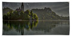 Beach Towel featuring the photograph Lake Bled Morning #3 - Slovenia by Stuart Litoff