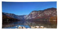 Beach Towel featuring the photograph Lake Bohinj by Davor Zerjav