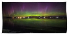 Beach Sheet featuring the photograph Lake Byron Aurora  by Aaron J Groen